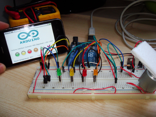 Arduino iphone control