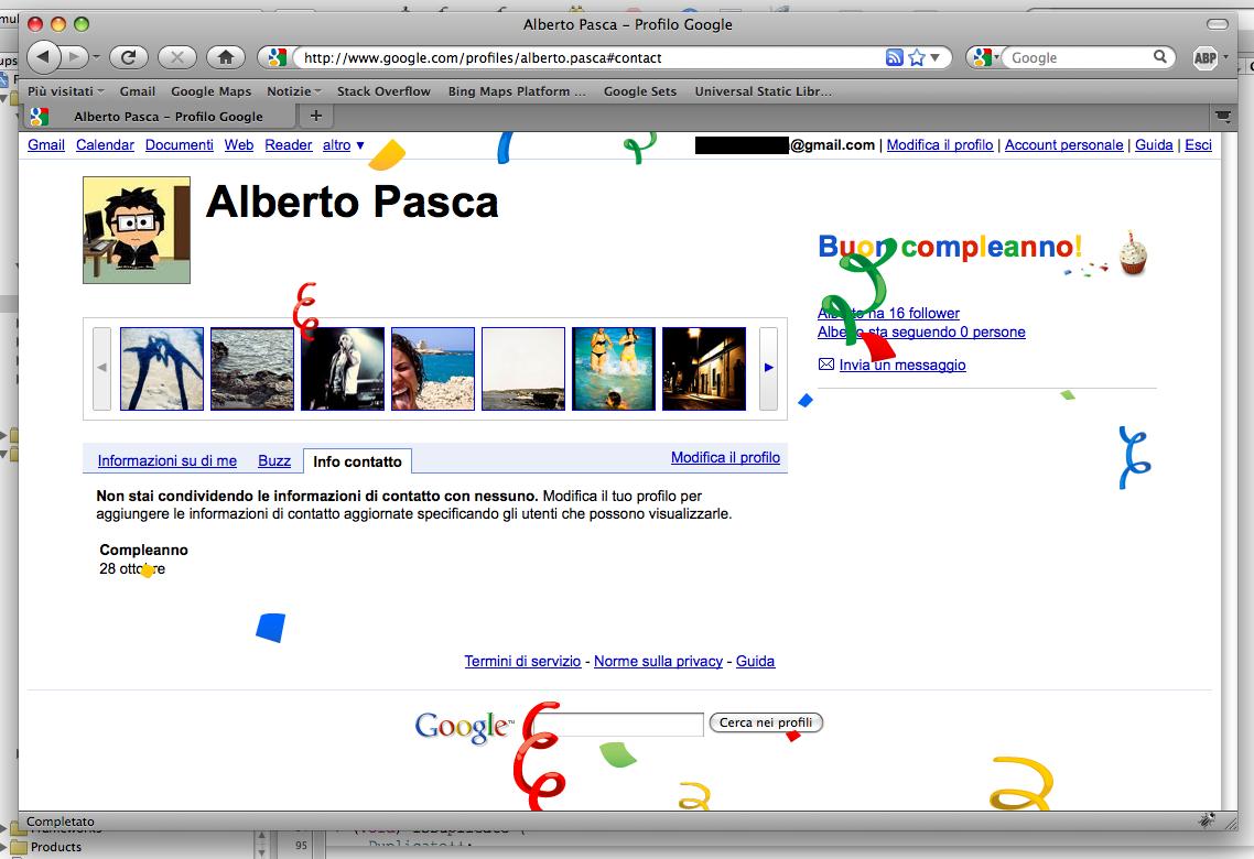 Google Profile Auguri Alberto