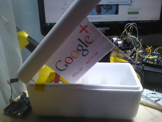 arduino google plus notifier