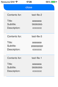 iCloud file list