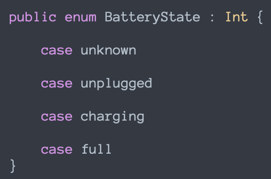 Swift - Battery level and charger status