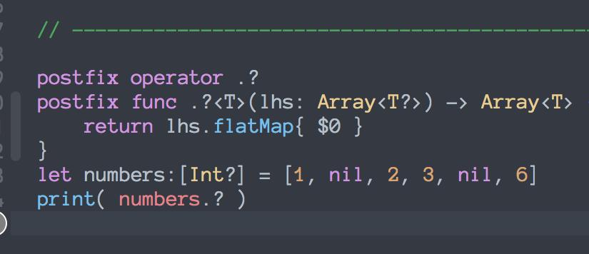 Swift - Custom Operators